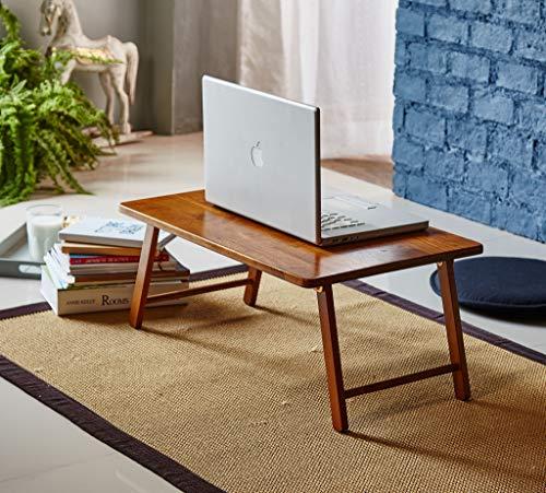 PJ Wood Folding Laptop Desk and Bed Tray Table - Honey Oak