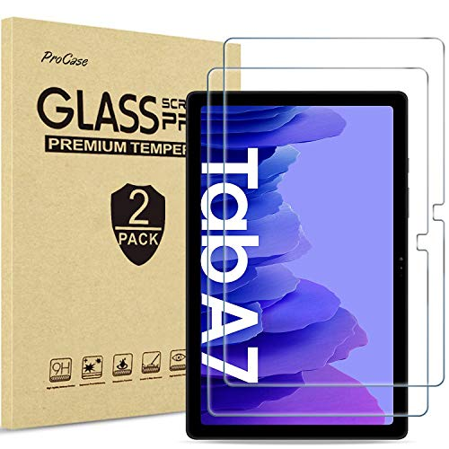 [2 Pack] ProCase Screen Protector for Galaxy Tab A7 10.4 Inch 2020 (SM-T500 / T505 / T507), Tempered Glass Screen Film Guard -Clear