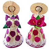 Corn Husk Doll Decorative Doll 2 Pack...