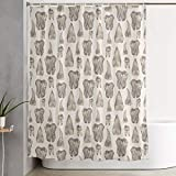 NiYoung Waterproof Polyester Shower Curtain Included 12 Hooks - Extra Long - Canine Teeth Shower Stall Curtain Home Decor