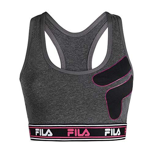 Fila Women's Classic Logo Band Cotton Racerback Sports Bra
