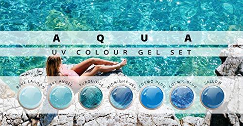 Aqua Farbgel Set de 7 à ongles Studio Set Color Gel UV pour ongles professionnelle à modeler