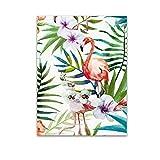 Gemini_mall Peinture à l'huile moderne et abstrait sur toile motif flamant rose, photo sans cadre, F, 40x50cm