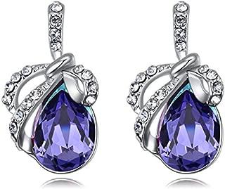 Roseate Pearl Austria Earing for Women with Single AAA Quality Starshine CultuRose Gold Austrian crystal on Handmade Earrings Jewelry