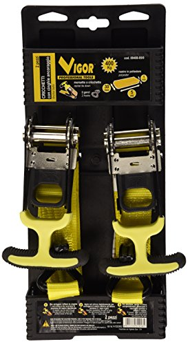 Vigor 9408-05 spanband/ratelgordel, 400 kg spankracht, 5 m, 2 stuks