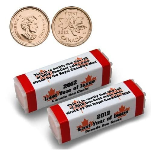 Roll 1927 Pennies Canada One Roll From The Box Shown.