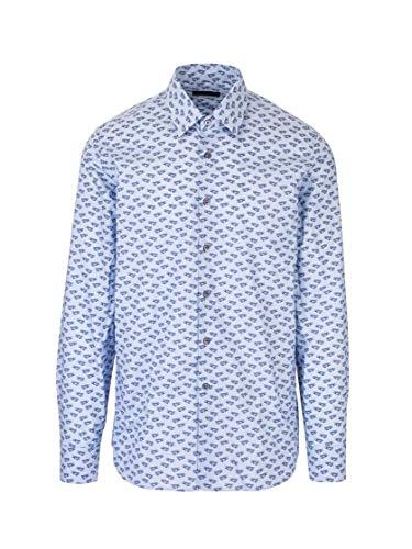 Prada Luxury Fashion Herren UCM6081VYMF0076 Hellblau Baumwolle Hemd | Frühling Sommer 20