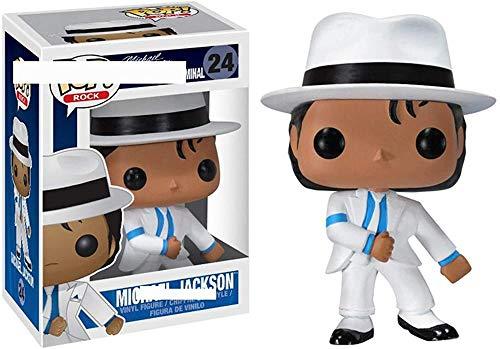 TYRIXEN Funko Pop Michael Jackson Figura de Vinilo 10 cm Arte Recuerdo Juguete Coleccionable estatuas de Marionetas de Anime-UN