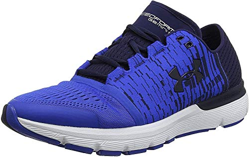 Under Armour Men's Speedform Gemini 3 Graphic Running Shoe, Midnight Navy (400)/Ultra Blue, 8.5 2E US