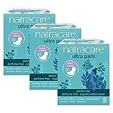 Compresas de algodón con alas (3 paquetes) de la marca Natracare
