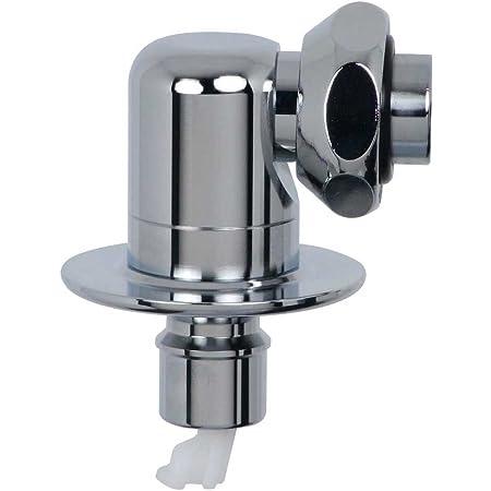 カクダイ 洗濯機用 水漏れ防止ストッパー付きニップル 呼13 万能ホーム水栓 対応 取替簡単 金属製 真下向き 772-545