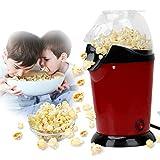 Popcorn Maker Machine Oil Free 1200W Electric Popcorn Popper Maker Non Stick Home Use Quick-Heat Hot...