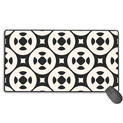 Nahtloses Muster des Mauspads mit einfachen geometrischen Figuren Das ultradünne Mauspad mit 40 x 75 cm verbessert die Geschwindigkeit und Genauigkeit der rutschfesten Gummibasis