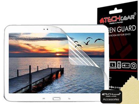 TECHGEAR [2 Stück Displayschutz für Samsung Galaxy Tab 3 (10,1 Zoll) - Ultra Klare Schutzfolie für Samsung Galaxy Tab 3 10,1 (GT-P5200 / GT-P5210 / GT-P5220) mit Reinigungstuch + Applikationskarte