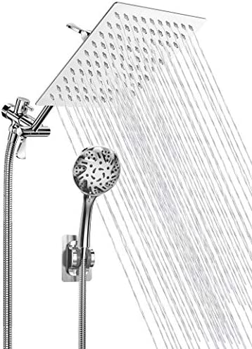 High Pressure Shower Head Handheld Rainfall Shower Head Combo with 11 Extension Arm 1 5M Hose product image
