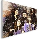 Deep Purple Print auf Leinwand Wandkunst Abstrakte Drucke