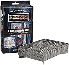 A-MAZE-N AMNPS5X8-HKY Maze Pellet Smoker with Hickory BBQ Pellets, 5 x 8 Inch, 1 Pound of Pellets