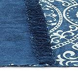 GJEFEGS vidaXL Kelim-Teppich Baumwolle 160x230 cm mit Muster Blau - 2
