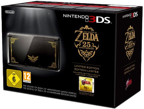 Console Nintendo 3DS - noire + The legend of Zelda : Ocarina of time 3D - 25ème Anniversaire [Importado de Francia]