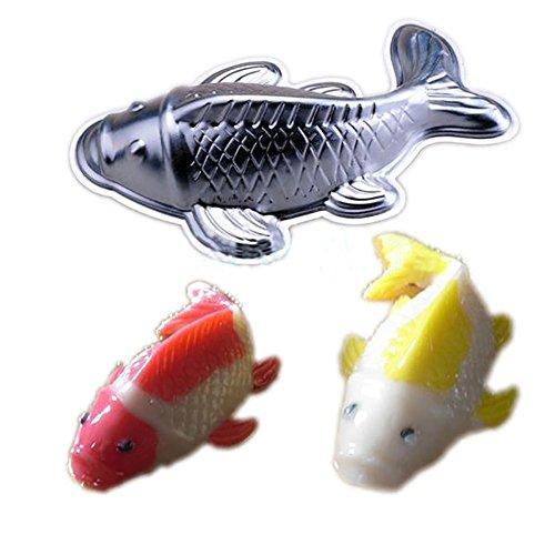 3D-Aluminium-Fischform zum Kuchendekorieren, Backen, Fondant, Ausstechformen (klein, 18 × 11,5 × 6 cm)