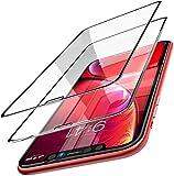 Onyx 【2 unidades】 Premium 5D Full Coverage Gorilla Ultra HD + 0,2 mm Protector de pantalla para Apple iPhone XR/iPhone 11 – 9H Tempered Glass Protector – Borde negro