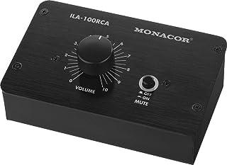 MONACOR ILA-100RCA passieve stereo niveau controller (RCA-versie) zwart