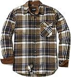 CQR Camisa de manga larga de franela para hombre, cómoda camisa de algodón a cuadros, Hombre Niños Unisex niños, Hof110 Sage - Juego de mesa, medium