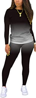 Women's Two Piece Outfits Tracksuit Jogger Outfit Sweatshirt and Sweatpants Sports Sets