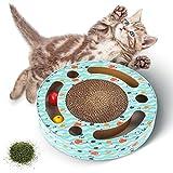Juguete Gato Gatos de cartón Rascador de Gato Para Cama y Sofá Almohadillas Rascadores Para Gatos de Carton Reciclado Corrugado Gato Rascando Salón