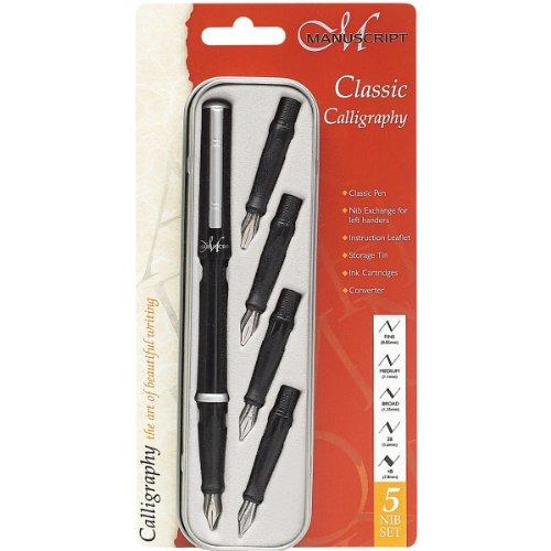 Manuscript Pen Manuscript Classic Calligraphy Set,Black,1 - Pack