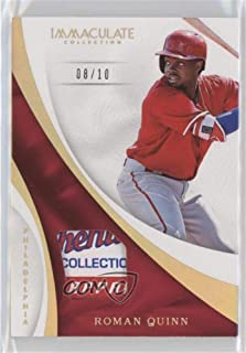 Roman Quinn #/10 (Baseball Card) 2017 Panini Immaculate Collection - Immaculate Swatches - Laundry Tag #S-RQ