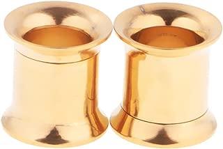 MagiDeal 1 Pair Elegant Stainless Steel Flesh Tunnel Earrings Ear Studs Body Jewelry Plugs