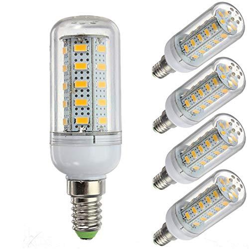 WELSUN 12 Volt 6 Watt LED Glühbirne, G9 / E12 / E14 / E27 Glühbirne 12V Niederspannung, 6W Glühbirne - 40 Watt Halogenlampe Äquivalent - Off Grid Solar System LED-Leuchten 5-Pack ( Color : Cool white , Style : E14 )