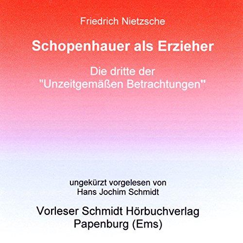 Schopenhauer als Erzieher Titelbild