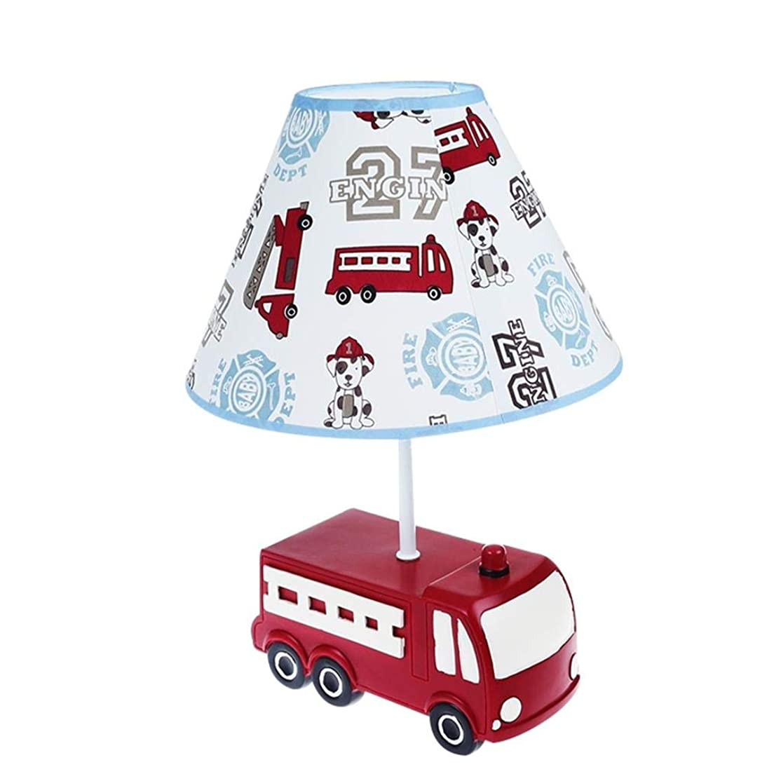 自分の力ですべてをする主要な学者XINGZHE テーブルランプ子供の部屋車の樹脂クリエイティブ装飾寝室ランプ漫画かわいい暖かいベッドサイドランプ - 37 * 25CM 電気スタンド