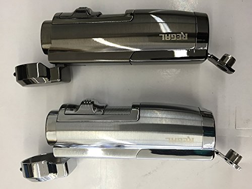 1X Regal Double Torch Lighters W/Cigar Puncher Assorted Color(1pc)