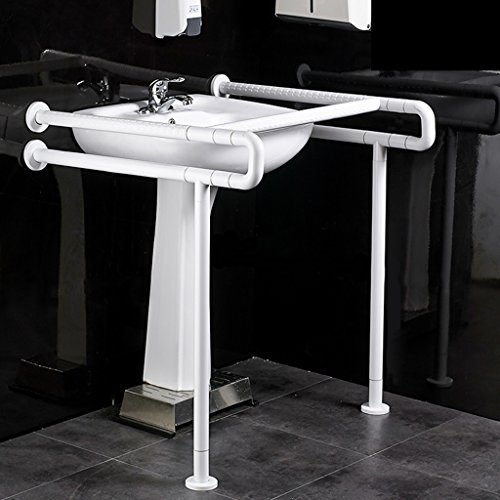 Learn More About ZSPPPP Handrails White Stainless Steel Non-Slip Handrail, Bathroom Toilet Accessibl...