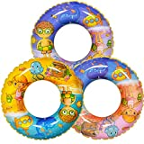 """FUN LITTLE TOYS Cartoon Pool Floats 24"""" (3 Pack), Funny Inflatable Pool Tubes, Summer Beach Water Float Party Decorations"""