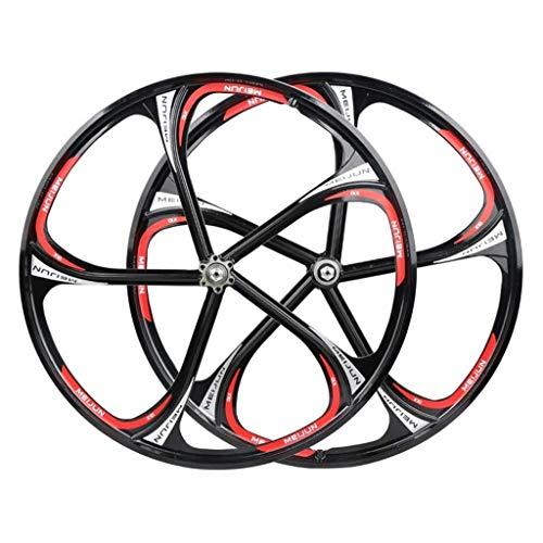 CWYP-MS 26' MTB Bike Wheel Set Magnesium Alloy Rim Disc Brake Bicycle Wheel Set 8-10 Speed QR Sealed Bearing Cassette Hubs