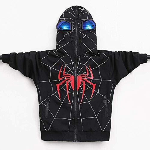 DZTIZI Kinder Hooded Jacket Is Volledig Gesloten, Spider-man Jas Hoodie Met Bril, Geschikt voor Lente