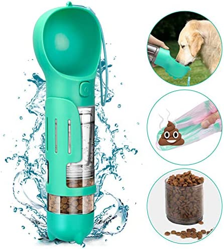 YoTelim Dog Water Bottle Portable Leak Proof Dog Water Dispenser with Drinking and Feeding Function product image
