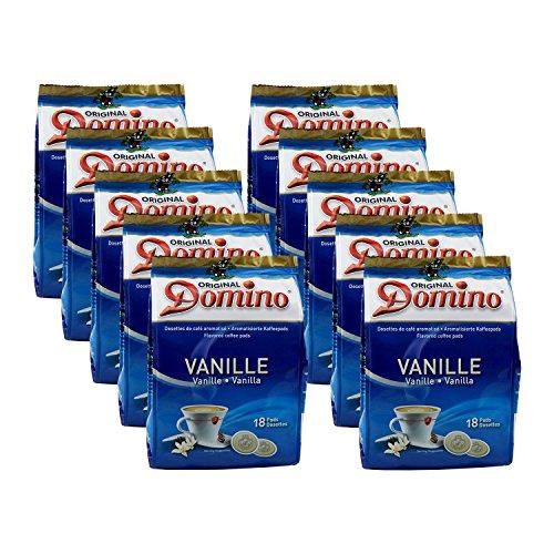 10 x DOMINO Kaffeepads Vanille 18 Pads