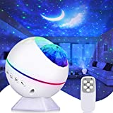 Perkisboby Portable Star Projector, Night Light Projector with Remote Control, LED Nebula Cloud, Moon, Super Silent, 360° Magnetic Base for Bedroom, Car, Party Decoration, Game Rooms