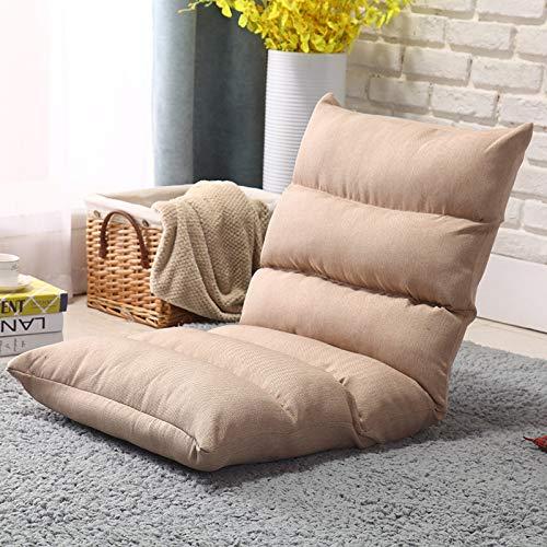 NYDZ Sofá plegable para videojuegos, silla de 5 posiciones, plegable, ajustable, cama reclinable, algodón transpirable y tela de lino, color negro