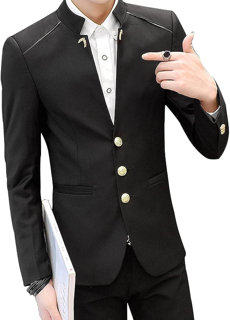 Men's Casual Three Button Slim Fit Blazer Jacket Lightweight Sport Coat Blazer Lightweight Suit Jacket