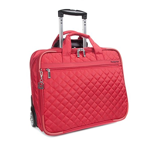 "Interior: 15.6"" laptop compartment, 2 zippered pockets, and 5 open organization pockets Front zippered pocket with organization panel Back luggage strap Meets airline carry-on size restrictions 17.3x7.1x13.8 17.3x7.1x13.8"