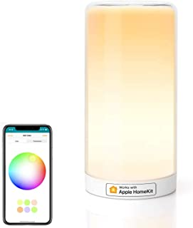HomeKit Touch Bedside Table Lamp -Meross LED Night Light Compatible with Alexa, Google Assistant, HomeKit Dimmable Multico...