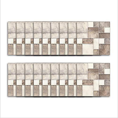 Pegatina de vinilo para azulejos/patrón de ladrillo retro costura cuadrada esmerilada, pegatina de pared tridimensional para el hogar pegatina para azulejos