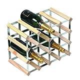 RTA 16 Bottle Traditional Wine Rack - Fully Assembled - Natural Pine (FSC)
