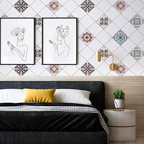 Freshtour Lámina autoadhesiva para pared posterior de cocina, 61 x 500 cm, para muebles, cocina, baño, encimera, cocina, azulejos, papel pintado antisalpicaduras de PVC